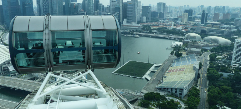 Riding the Singapore Flyer