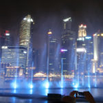 Two Light Shows at Marina Bay