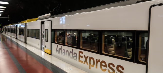 Riding the Arlanda Express