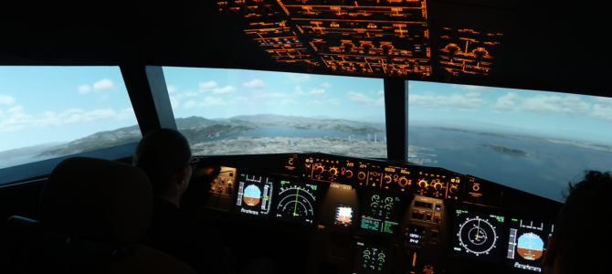 Flying the Aerotask A320 Simulator (in Essen)