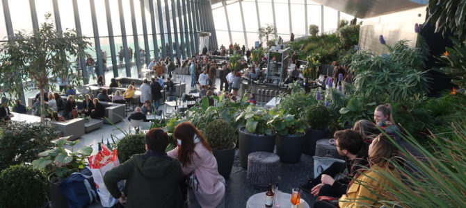Watching London from Sky Garden