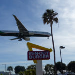 Planespotting at In-N-Out Burger Los Angeles Airport