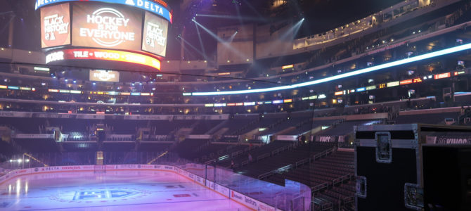 Visiting the Los Angeles Kings at Staples Centers