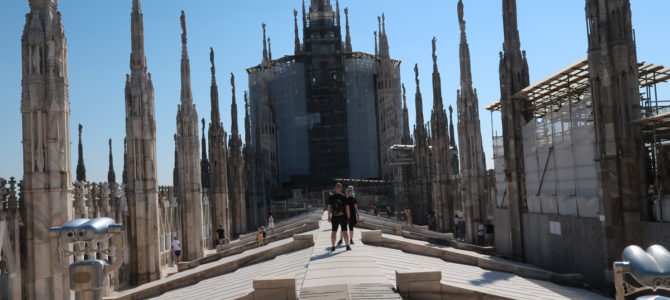 On the Rooftop of Milan Cathedral