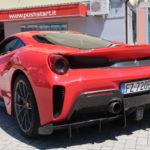 Driving the Ferrari 488 with Pushstart in Maranello